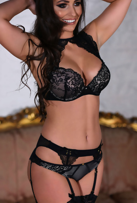 Anastasia Harris In Hot Black Lingerie